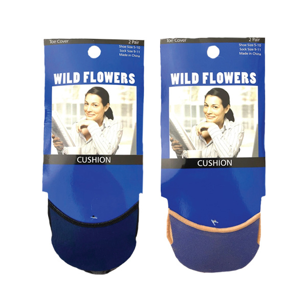WILD FLOWERS 2PR TOE COVER STYLE #PED2923