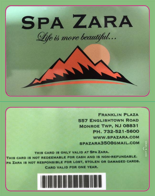 Spa Zara Gift Card